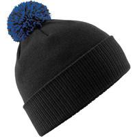 Accessoires textile Bonnets Beechfield B450 Noir/bleu roi