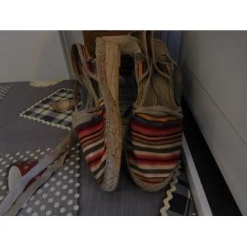 Chaussures Femme Sandales et Nu-pieds Pare Gabia Sandales en toile avec lie à mettre autour de la cheville Multicolore