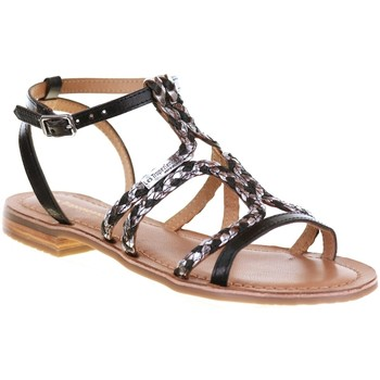 Chaussures Femme Sandales et Nu-pieds Les Tropéziennes par M Belarbi BONGO Noir/Argent