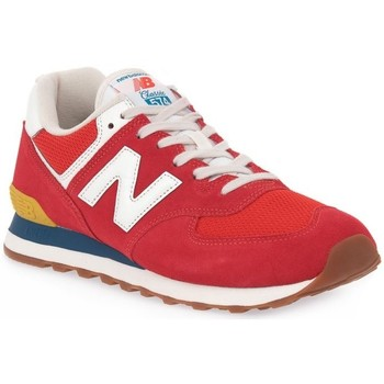 Chaussures Homme Baskets basses New Balance 574 Rouge, Gris
