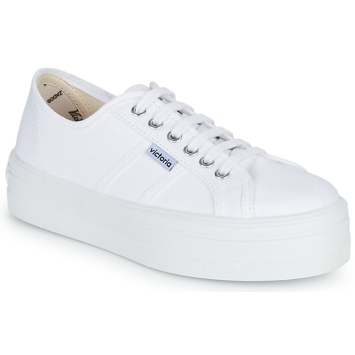 Victoria 6550 Blanc Toile - Chaussures Baskets basses Femme