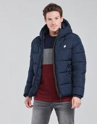 Vêtements Homme Doudounes Superdry HOODED SPORTS PUFFER Bleu