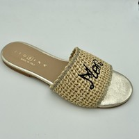 Chaussures Femme Sandales et Nu-pieds Fiorina 190541 MULE PLATE RAPHIA Beige