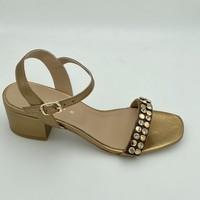 Chaussures Femme Sandales et Nu-pieds Fiorina 172540 SANDALE TALON CARRÉ Doré
