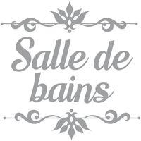 Maison & Déco Stickers Retro Sticker décoratif de porte SALLE DE BAINS Gris