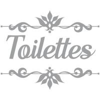 Maison & Déco Stickers Retro Sticker décoratif de porte TOILETTES Gris