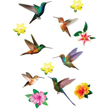 Maison & Déco Stickers Le Monde Des Animaux Stickers Muraux Colibris Multicolore