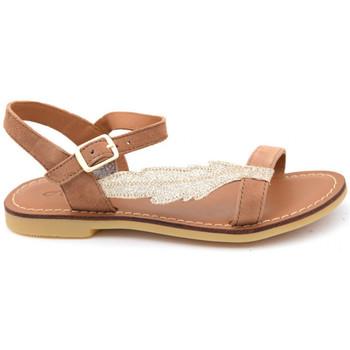 Chaussures Fille Sandales et Nu-pieds Shoo Pom lazar feather Marron
