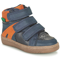 Chaussures Garçon Boots Kickers LOGGAN Marine / Orange