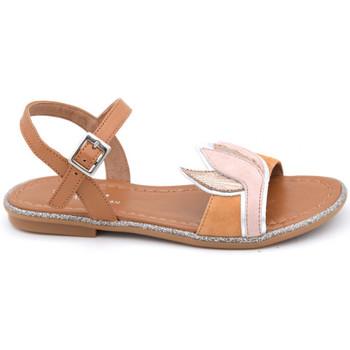 Chaussures Fille Sandales et Nu-pieds Reqin's tulip mix peau Marron