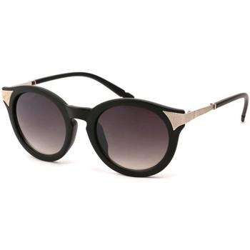 Montres & Bijoux Lunettes de soleil Eye Wear Lunettes Soleil Maria monture noire métal argent Noir
