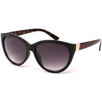 Montres & Bijoux Lunettes de soleil Eye Wear Lunettes Soleil Nancy monture Noire et écailles marron Noir
