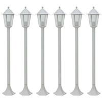 Maison & Déco Luminaires d'extérieur Vidaxl Lampe de jardin à piquet Blanc