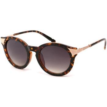 Montres & Bijoux Lunettes de soleil Eye Wear Lunettes Soleil Maria monture marron et dorée Marron