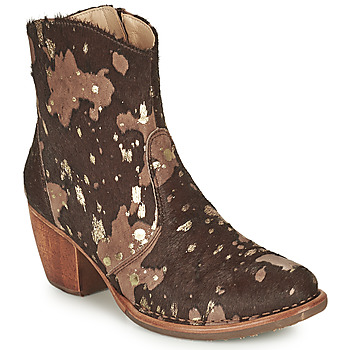 Chaussures Femme Bottines Neosens MUNSON Marron / Doré