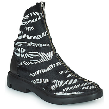 Chaussures Femme Boots Papucei KAEL Noir / Blanc