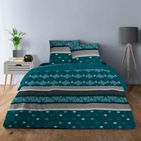 Maison & Déco Parures de lit Home Collection Parure de draps 240x300 coton PHENIX BLEU Bleu