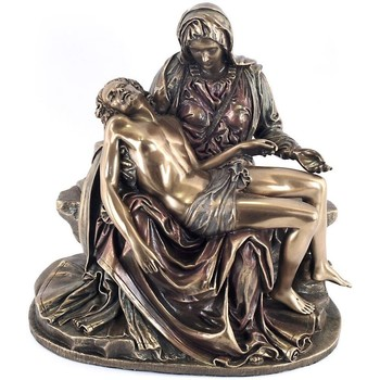 Maison & Déco Statuettes et figurines Muzeum Statuette La Pietà de Michel-Ange 16 cm - Veronese Design Doré