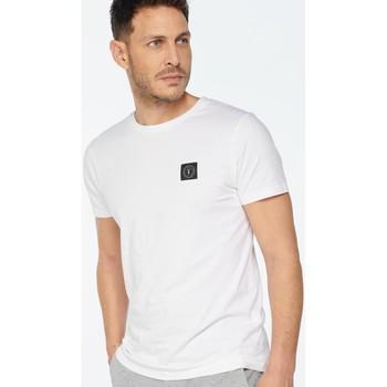 Vêtements Homme T-shirts manches courtes Japan Rags T-shirt brown blanc WHITE
