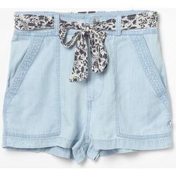 Vêtements Fille Shorts / Bermudas Little Cerise Short britanygi en jeans bleu LIGHT BLUE DENIM