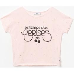 Vêtements Fille T-shirts manches courtes Little Cerise T-shirt wakegi rose PINK