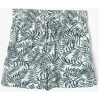 Vêtements Fille Shorts / Bermudas Little Cerise Short à motif floral mineogi vert GREEN