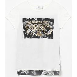 Vêtements Fille T-shirts manches courtes Little Cerise T-shirt kiaragi blanc WHITE