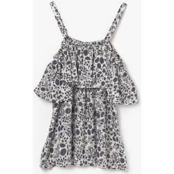 Vêtements Fille Débardeurs / T-shirts sans manche Little Cerise Débardeur à motif floral gabgi marine et blanc MIDNIGHT