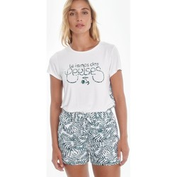 Vêtements Femme Shorts / Bermudas Le Temps des Cerises Short mineo à motif jungle GREEN