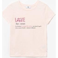 Vêtements Fille T-shirts manches courtes Little Cerise T-shirt kendragi rose PINK