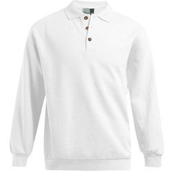 Vêtements Homme Sweats Promodoro Polo sweat manches longues grande taille Hommes promotion blanc