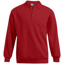 Vêtements Homme Sweats Promodoro Polo sweat manches longues Hommes promotion rouge feu