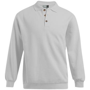 Vêtements Homme Sweats Promodoro Polo sweat manches longues grande taille Hommes promotion gris clair chiné