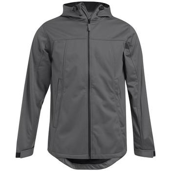 Vêtements Homme Coupes vent Promodoro Veste sweat capuche Softshell grande taille Hommes promotion gris