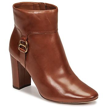 Chaussures Femme Bottines Lauren Ralph Lauren MCKAY Cognac