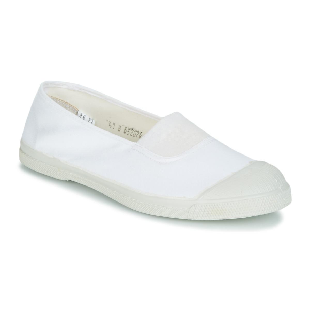 check out 3d50e 41141 Chaussures Femme Baskets basses Bensimon TENNIS ELASTIQUE Blanc