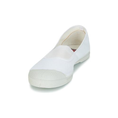 Bensimon Tennis Elastique Blanc - Livraison Gratuite- Chaussures Baskets Basses Femme 25
