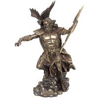 Maison & Déco Statuettes et figurines Retro Statue en polyrésine Zeus de couleur bronze Doré