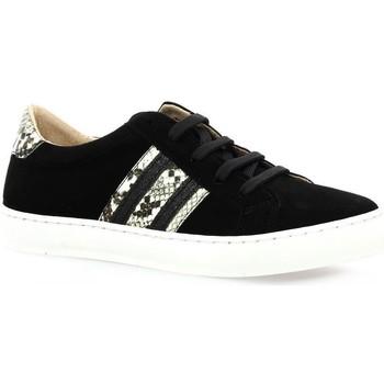 Chaussures Femme Baskets basses So Send Baskets cuir velours Noir