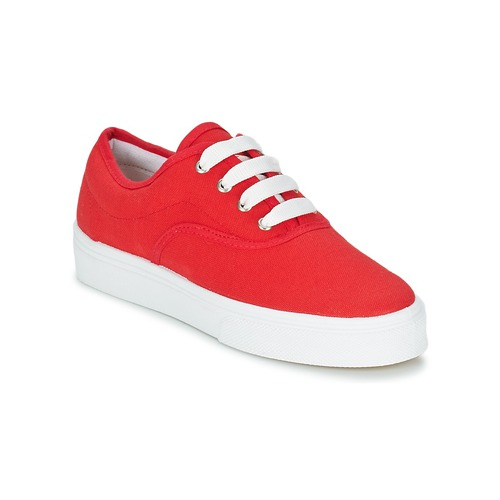 Yurban Rouge Baskets Pluo Femme Chaussures Basses PuOkZXi