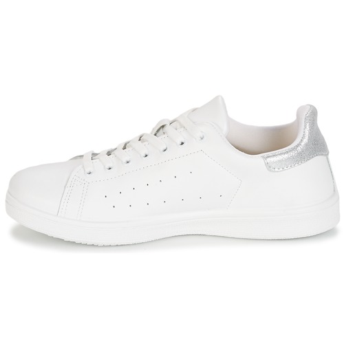 BlancArgenté Baskets Basses Femme Saturna Chaussures Yurban L4Aq5Rj3