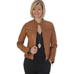Vêtements Femme Vestes en cuir / synthétiques Daytona SILENE SHEEP AOSTA COGNAC Cognac