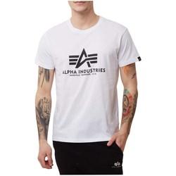 Vêtements Homme T-shirts manches courtes Alpha Basic Blanc