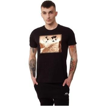 Vêtements Homme T-shirts manches courtes Alpha Lunar Plaque Noir