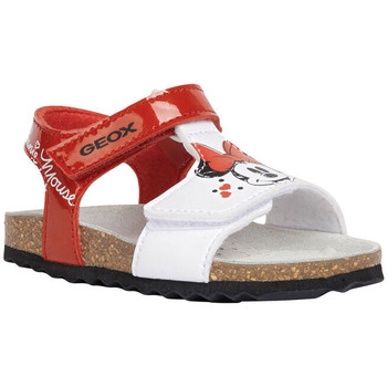 Chaussures Fille Sandales et Nu-pieds Geox B Chalki Girl Sandale Rosso-Bianco