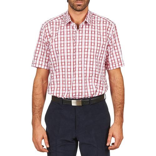 Chemises Pierre Cardin CH MC CARREAU GRAPHIQUE Blanc / Rouge 350x350
