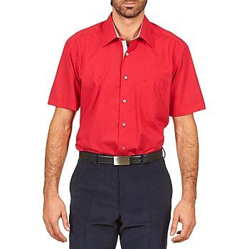 Chemises manches courtes Pierre Cardin CH MC POPELINE UNIE - OPPO RAYURE INTERIEUR COL & POIGNET