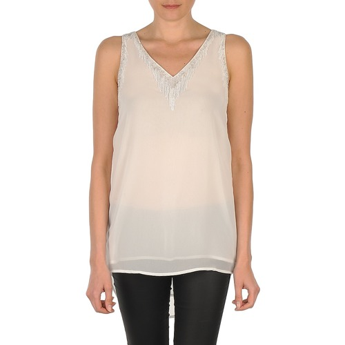 Vêtements Femme Débardeurs / T-shirts sans manche Vero Moda PEARL SL LONG TOP Blanc
