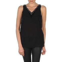 Vêtements Femme Débardeurs / T-shirts sans manche Vero Moda PEARL SL LONG TOP Noir