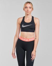 Vêtements Femme Brassières de sport Nike W NK DF SWSH ICNCLSH GX BRA Noir / Blanc
